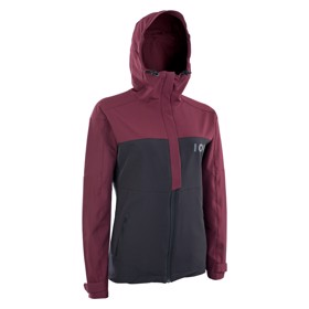 ION Dame Softshell Shelter Cykeljakke Red Haze  Front