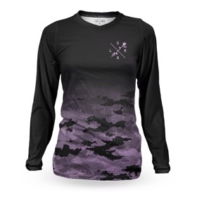 Loose Riders Lilac Camo Dame Cykeltrøje Front